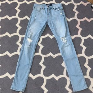 hollister stacked skinny ripped men's jeans